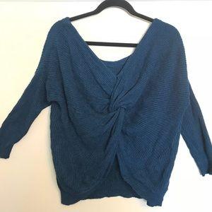 Express Twist Back Sweater